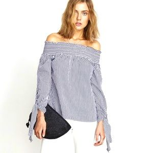 NWT Faithfull Central Park off shoulder top XS